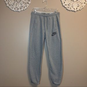 Nike Pants - Nike Grey Sweatpant Joggers w/ Fold Over Band